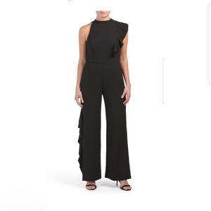 NWT Bebe Ruffled Jumpsuit